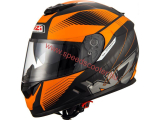 NZI INDY BLACK ORANGE  XS